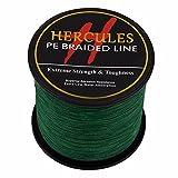 1000m 1094yds grün 6lbs-100lbs Hercules PE Dyneema Braid Angelschnur Spectra 4Strähnen, grün