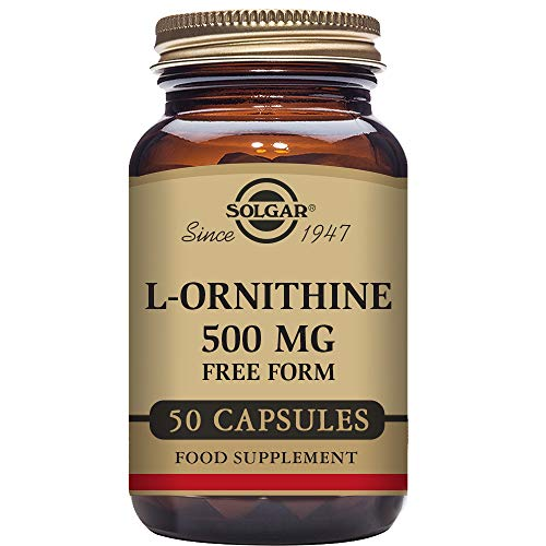 51VvfxVDEaL. SS500  - Solgar L-Ornithine 500 mg Vegetable Capsules - Pack of 50