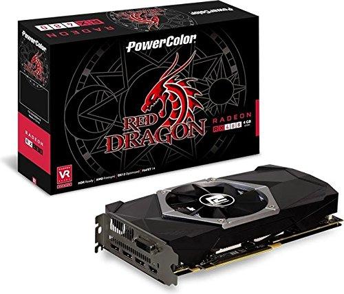 PowerColor AXRX 480 4GBD5-3DHDV2 Grafikkarte 4GB schwarz/grau/braun/rot