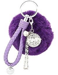 02d69979006cb Ularma Elegant Plüsch Ball Schlüsselanhänger Weich Keychain  Handtaschenanhänger Dekor