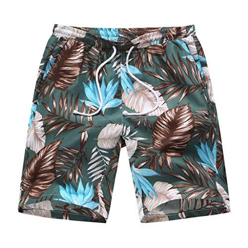 Pantalones Cortos de Playa Estampados Hawaianos para Hombre Verano Moda Suelto bañador de natación...