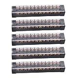Cnbtr 600V 15A 12posizione doppia fila vite morsettiera cavo di collegamento elettrico barriera striscia set di 5