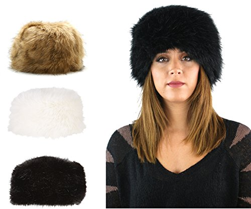 LADIES WOMENS FAUX FUR RUSSIAN STYLE COSSACK WINTER HAT