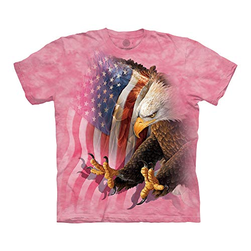 The Mountain Unisex-Erwachsene Eagle Freedom T-Shirt, Rose, Large - Eagle Damen Rosa T-shirt