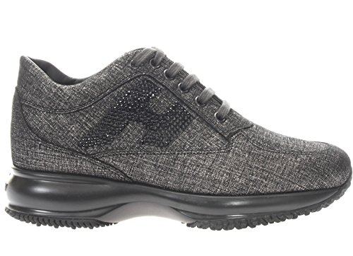 Hogan Donna Sneaker HXW00N02010H1T3953 Interactive H Strass Grigio