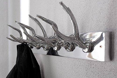 DuNord Design Garderobe Wandgarderobe Kleiderhaken FORST Aluminium Geweih Design