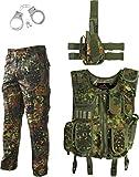 normani SWAT Kostüm Bundeswehr bestehend aus Weste, Hose, Pistolenholster und Handschellen Größe L
