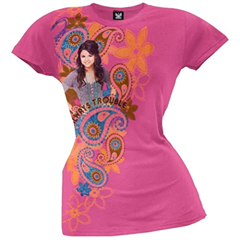 Wizards of Waverly Place - Girls Paisley Alex Girls Youth T-shirt - X-Large Pink