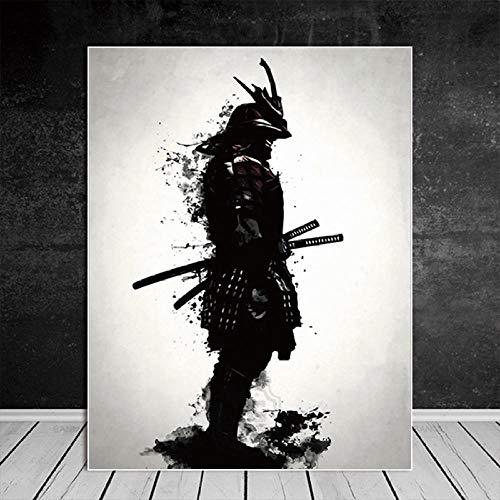 RuYun Samurai japonés Lienzo Pintura óleo Moderna