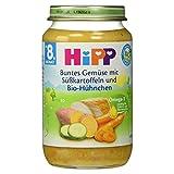 Hipp Buntes Gemüse mit Süßkartoffeln und Bio-Hühnchen, 220 g