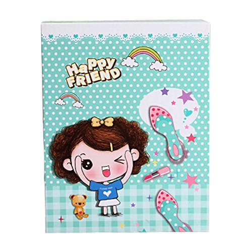 Heureux Motif Cartoon Girl Table pliante Cosmetic Containers (14x11x5 cm)