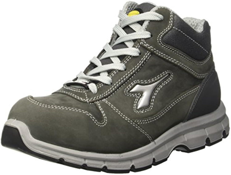Diadora Run High S3 Scarpe da lavoro, Unisex adulto, SRC, Grigio (Grigio Castello), 36 EU (3.5 UK) | lusso  | Sig/Sig Ra Scarpa