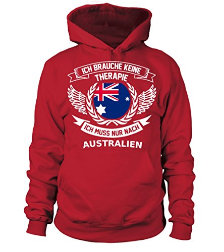 Australien Therapie T Shirt Pullover Hoodie Sweatshirt Kapuzenpullover Unisex (Hoodie Australien)