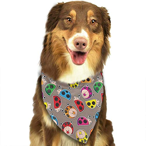 Sdltkhy Colorful Cute Ladybugs Triangle Bandana Scarves Accessories for Pet Cats and Dogs - ()