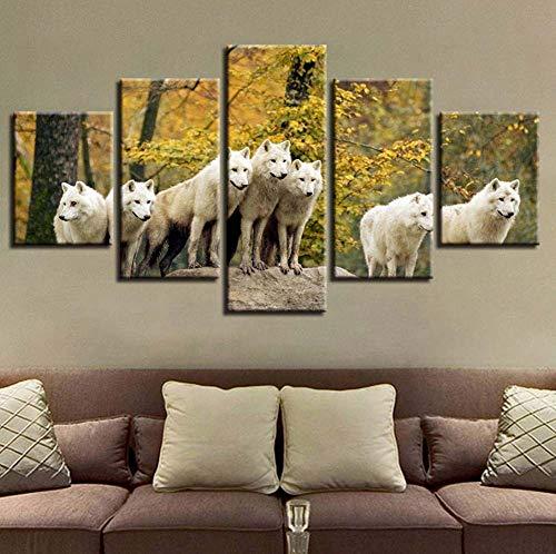 hd casa moderna decorazione poster art 5 del muro animali lupo il paesaggio per sala stampato tela foto dipinto