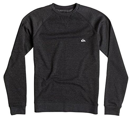 Quiksilver-Everyday Crew felpa da uomo, Uomo, Everyday Crew Sweatshirt, grigio, S