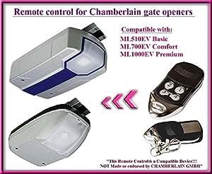 Compatible t l commande pour chamberlain ml510ev basic ml700ev comfort ml1000ev premium - Telecommande ouvre porte de garage ...