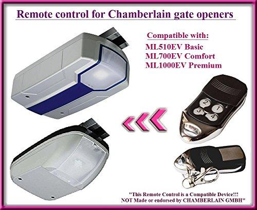 Kompatibel Fernbedienung für Chamberlain Garagentorantrieb ml510ev Basic/ml700ev Komfort/ml1000ev Premium Garage torantrieben. Top Qualität Ersatz für die besten Preis