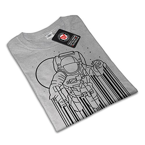 Platz Astronaut Mond Geek Damen S-2XL T-shirt | Wellcoda Grey