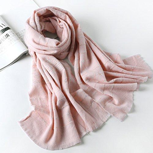 Scarf Lattice Big 60 Large Fashion Shawl Warm Thick Renyz Female zkhn 195cm 19560cm Size 3ARL54j