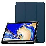 Fintie SlimShell Hülle für Samsung Galaxy Tab S4 10.5 Zoll T830/ T835 - Ultra Schlank Superleicht Ständer Schutzhülle Case mit eingebautem S Pen Halter, Auto Schlaf/Wach Funktion, Marineblau