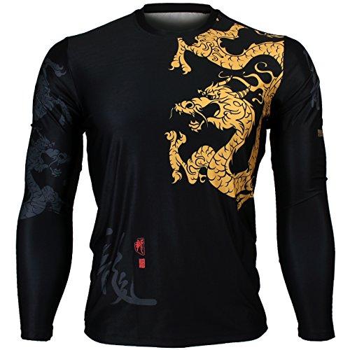 btoperform MMA Herren Damen Sport Full Graphic Loose Fit Short Sleeves Crew Neck Shirts fr-164, Herren damen Kinder, XXL (Crew Shirt Loose)
