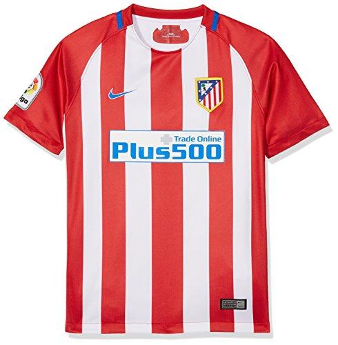 Nike ATM Y NK Dry Stad JSY SS HM, Camiseta Unisex para Niño, Rojo (varsity red / white / hyper cobalt), L