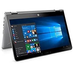 "HP Pavilion x360 14-ba031ns - Ordenador portátil 14"" FullHD (Intel Core i5-7200U, 8 GB RAM, 1 TB HDD, Intel Graphics, Windows 10 ), Plateado - Teclado QWERTY Español"