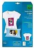 Sigel IP650 Tintenstrahldrucker Transfer-Folien für helle Stoffe/T-Shirts, 3 Blatt A4