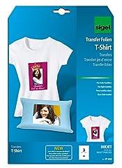 Idea Regalo - Sigel IP650 Film InkJet per trasferimento su T-Shirt e tessuti chiari, A4, 3 fg.