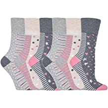 NUEVO: 6Pack Mujer Gentle Grip no elástico calcetines, tamaño 5–9US