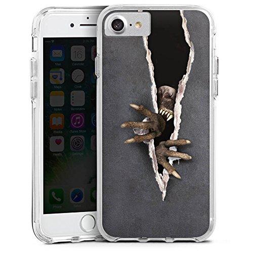 Apple iPhone 7 Bumper Hülle Bumper Case Glitzer Hülle Monster Krallen Animal Bumper Case transparent