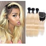 Best Hair Weave Blonde 3 Bundles - 3 Bundles Ombre Dark Root Blonde Straight Wave Review