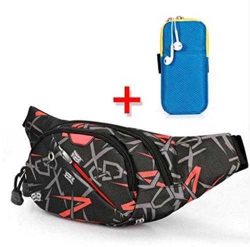 OOFWY Chest Pack Umhängetasche Freizeit Sport Männer und Frauen Outdoor Multifunktions Rucksack B