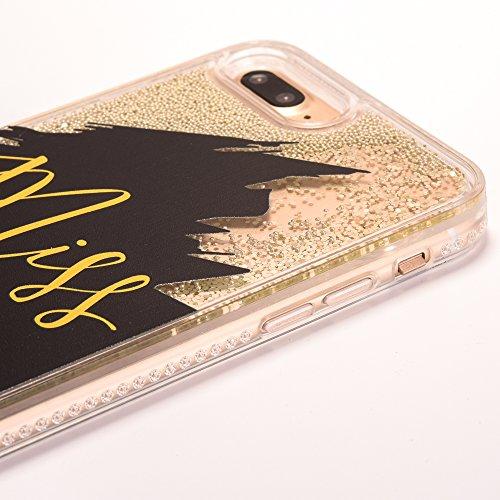 iPhone 6/6S Coque avec Absorption de Choc, Voguecase TPU avec Bling Perles et Sables Mouvants, Etui Silicone Souple, Légère / Ajustement Parfait Coque Shell Housse Cover pour Apple iPhone 6/6S 4.7 (bo MISS BOSS-Or