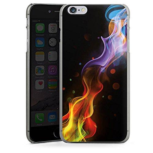 Apple iPhone X Silikon Hülle Case Schutzhülle Nebel Rauch Farben Hard Case anthrazit-klar