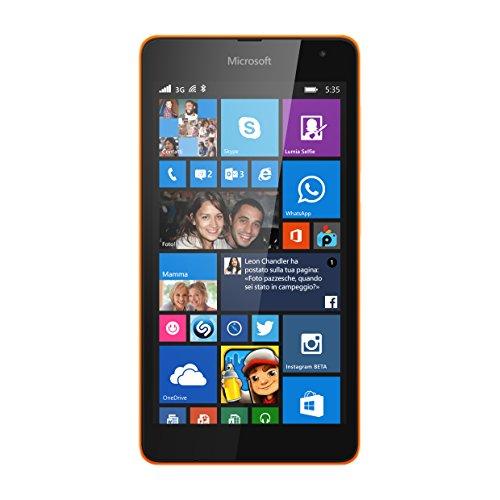 Foto Microsoft Lumia 535 Smartphone, 8 GB, Arancio [Italia]