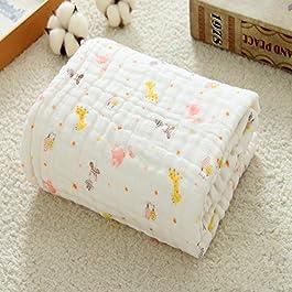 Baumwolle Gaze Warm Baby Decken für Mädchen Jungen Super Wasser saugfähiges Badteppich Handtücher Infant Decke Kuscheldecke Musselin Baby Swaddle Decken Receiving 104,1x 104,1cm Zoll, White-2, 41
