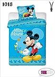 Parure de lit 2pièces pour enfant- 100x 135cm + 40x 60cm- Motif Disney 1018Mickey Mouse