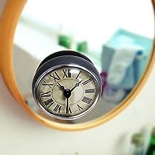 CHLWW Creativo Retro Personalidad Sencilla Baño Cocina Agua Ventosas Rome Italia Reloj De Pared Digital