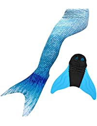 LIKEEP Meerjungfrauenschwanz Ⅱ zum Schwimmen mit Verbesserten Flosse und Schönere Mermaidens Meerjungfrauenschwanz - Mädchentraum
