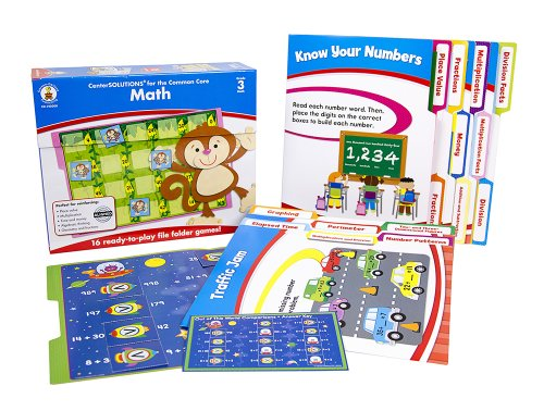 Math File Folder Game, Grade 3: File Folder Games