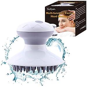 Kopfmassage Gerät, Kopfmassage Bürste, Elektrische Kopfmassagegerät, Scalp Massager Electric für Kopf, Nacken, Schultern sowie Rücken, Stressabbau fördern die Blutzirkulation Haarwachstum
