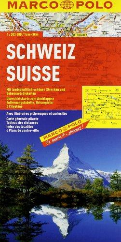 Svizzera 1:300.000. Ediz. multilingue (Carte stradali Marco Polo)