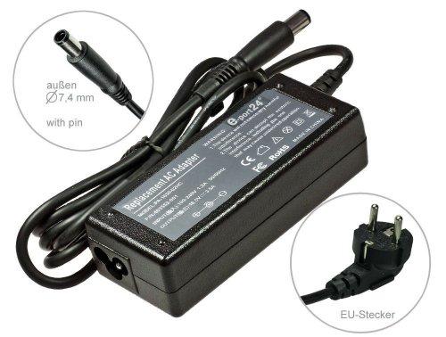 Netzteil Adapter Ladegerät für HP Compaq nc2400 Außen 7,4 mm mit Stift. Mit Euro Stromkabel -