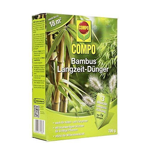 COMPO Bambus Langzeit-Dünger für alle Buchsbaumarten, Zier- und Kübelgräser, 3 Monate Langzeitwirkung, 700 g, 18m² (Bambus Bambu)