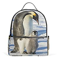 Use7 Penguin Winter Snow Polyester Backpack School Travel Bag