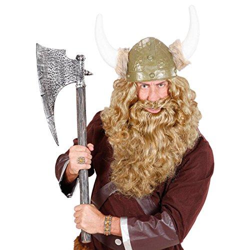 NET TOYS Blonder XL Vollbart Königsbart Riesen Bart Wikinger Wikingerbart Nordmann Riesenbart Faschingsbart Karnevalsbart Kostüm ()