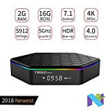 PULIER T95z Plus Android 7.1 TV BOX 2GB 16GB S912 support HDR+ | H.265 | 3D Blue-ray | 4K and 2.4G/5G wireless Bluetooth 100M/1000M LAN
