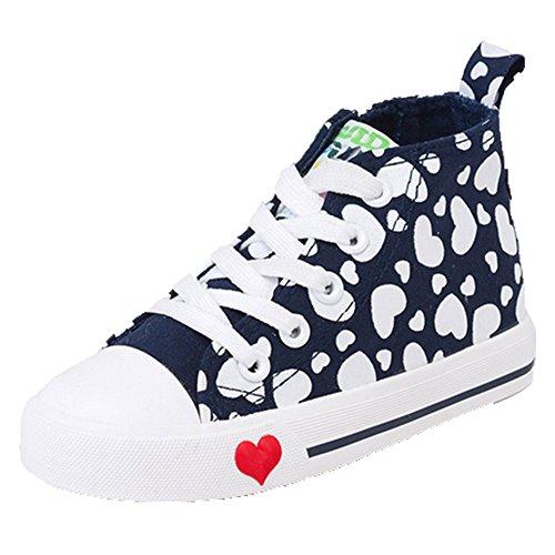 Ohmais Enfants Filles Garçon Chaussure de loisir chaussure de sport souliers Marine